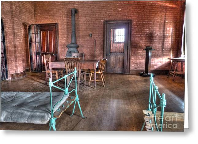 Mj Photographs Greeting Cards - Guard Shack Day Room Greeting Card by MJ Olsen