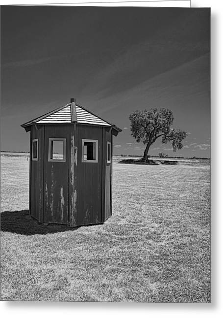 Larned Greeting Cards - Guard Shack Greeting Card by Tom Winfield