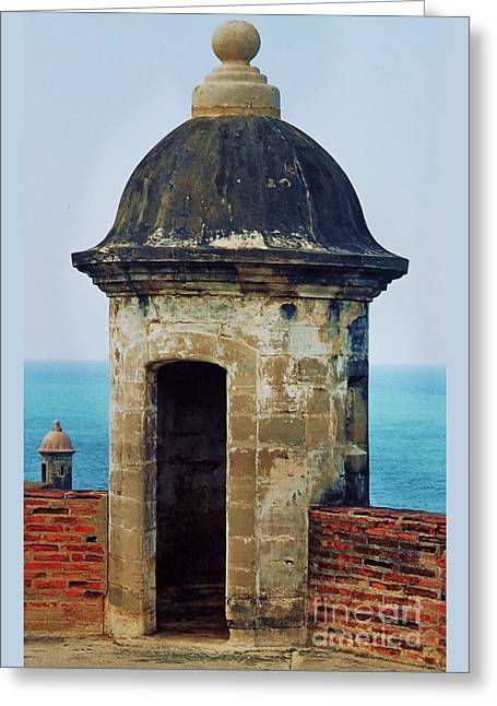 Historic Site Greeting Cards - Guard Tower El Morro Greeting Card by Marcus Dagan