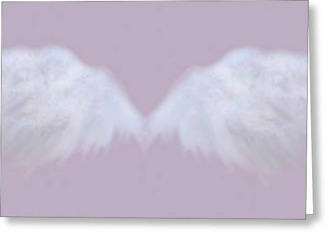Religious Mixed Media Greeting Cards - Guardian Angel 1 Greeting Card by Audrey Hynd-Gaw