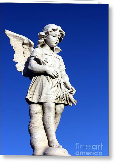 Guardian Angel Greeting Cards - Guardian Angel 3 Greeting Card by Sophie Vigneault
