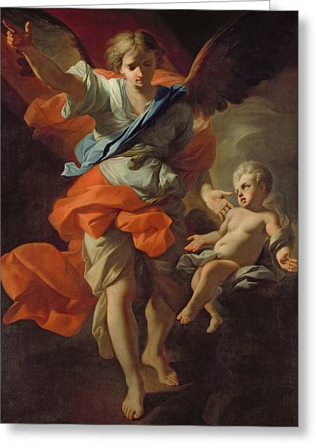 Guardian Angel Greeting Card by Andrea Pozzo