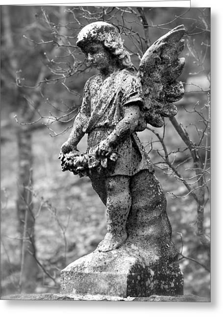 Grave Markers Greeting Cards - Guardian Angel  Greeting Card by Karon Melillo DeVega