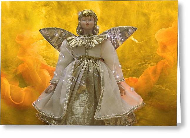 Guardian Angel Greeting Cards - Guardian-Angel Greeting Card by Manfred Lutzius