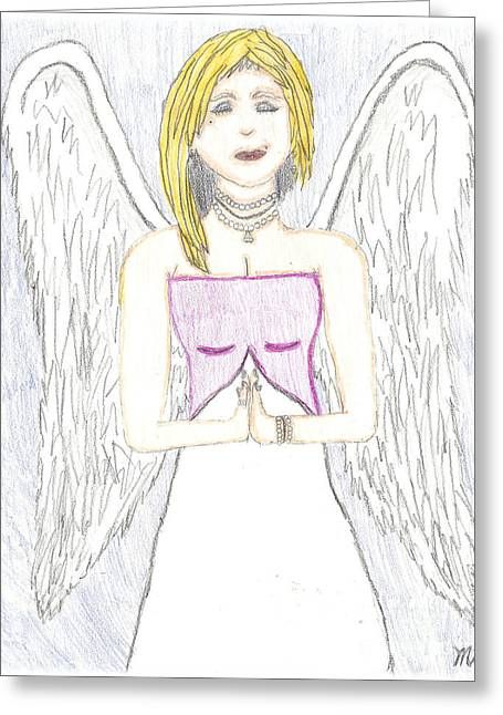 Guardian Angel Pastels Greeting Cards - Guardian Angel Greeting Card by Marissa McAlister