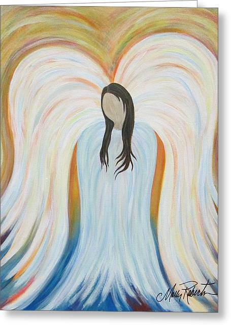 Guardian Angel Greeting Cards - Guardian Angel Greeting Card by Molly Roberts
