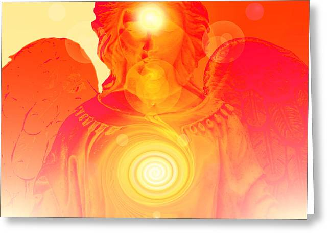 Anjo Greeting Cards - Guardian Angel No. 03 Greeting Card by Ramon Labusch