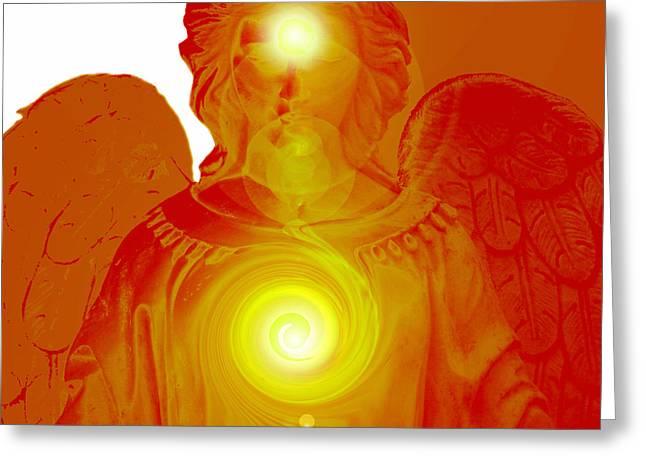Seraphim Angel Greeting Cards - Guardian Angel No. 04 Greeting Card by Ramon Labusch