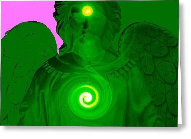Seraphim Angel Greeting Cards - Guardian Angel No. 05 Greeting Card by Ramon Labusch