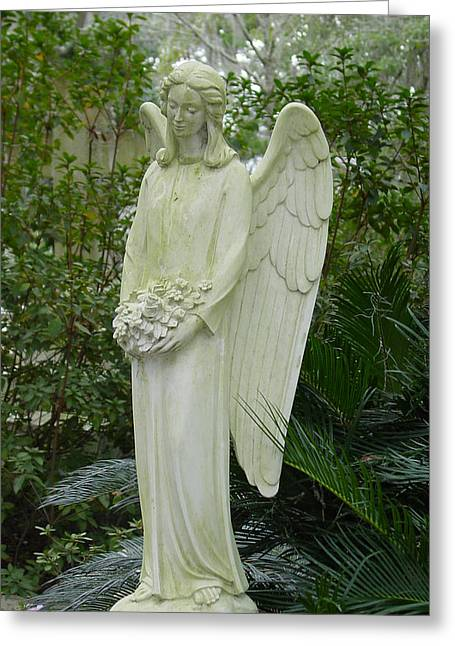 Guardian Angel Greeting Card by Suzanne Gaff