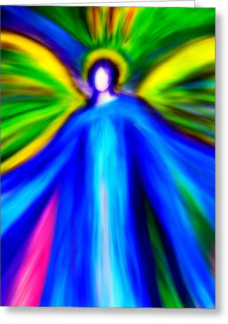 Therapy Pastels Greeting Cards - Guardian Angels  Greeting Card by Alma Yamazaki