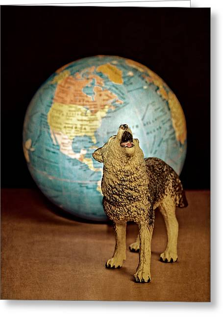 Howl Greeting Cards - Guardian Greeting Card by Jeff  Gettis