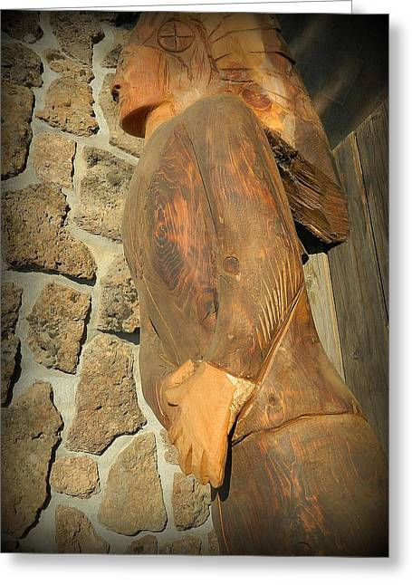 Americans Sculptures Greeting Cards - Guardian Greeting Card by Marlowe Frantz