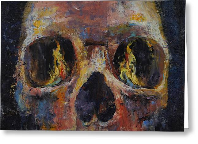 Guardian Greeting Card by Michael Creese