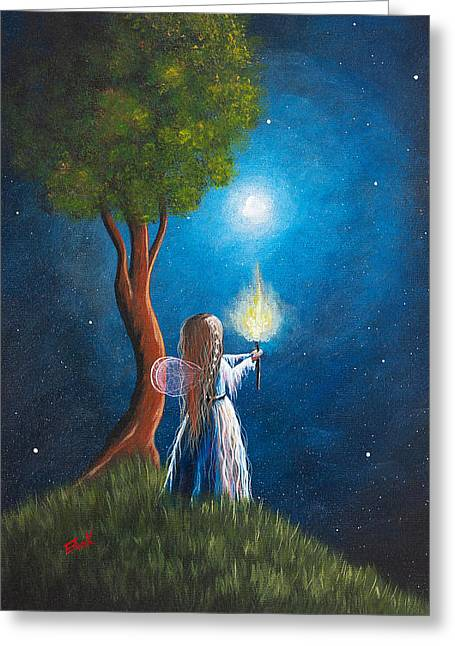 Earthly Greeting Cards - Guardian Of Light by Shawna Erback Greeting Card by Shawna Erback