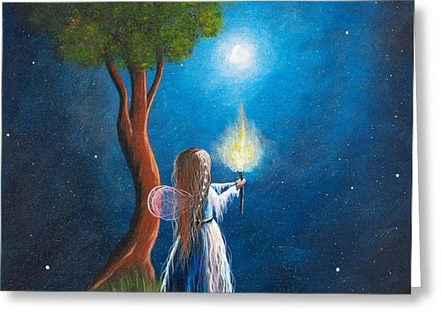 Guardian Of Light by Shawna Erback Greeting Card by Shawna Erback