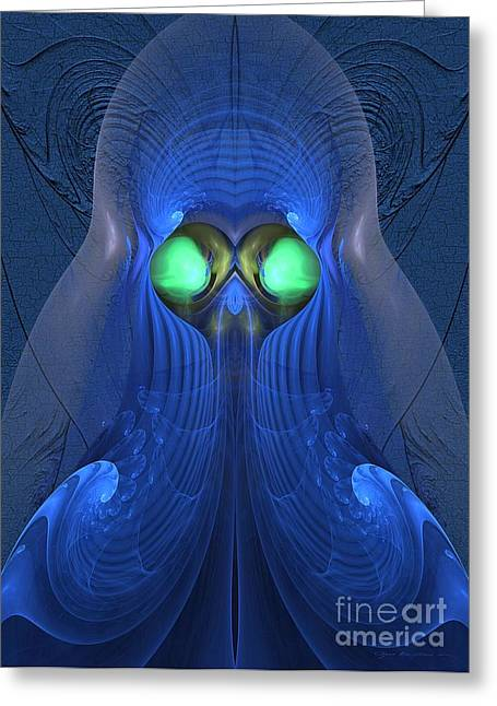 Recently Sold -  - Geometric Design Greeting Cards - Guardian of souls - Surrealism Greeting Card by Sipo Liimatainen