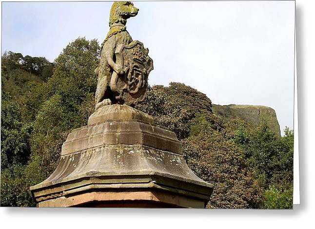 Greetingcard Greeting Cards - Guardian Of The Mountain Greeting Card by Patrick J Murphy