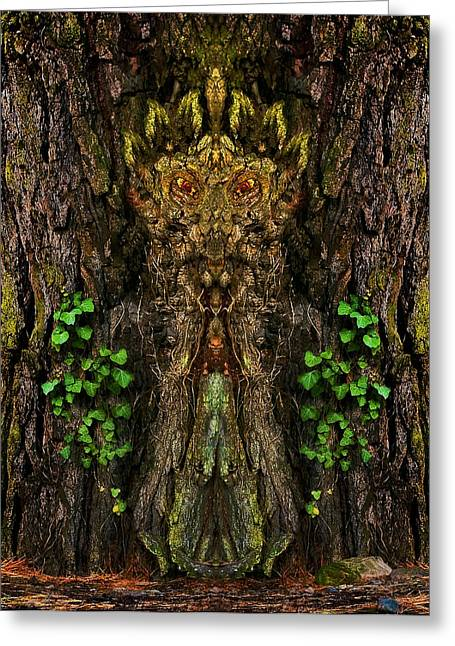 Ghastly Greeting Cards - Guardian of the Wild Woods Greeting Card by Jane McIlroy