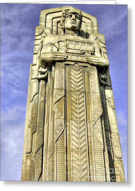 Cleveland Photographs Greeting Cards - Guardian of Traffic - 5 Greeting Card by David Bearden