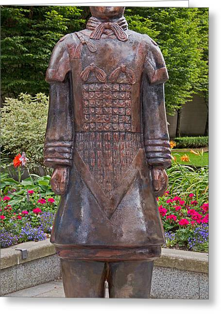 Shaanxi Province Greeting Cards - Guardian Terracotta Warrior Greeting Card by David Oberman