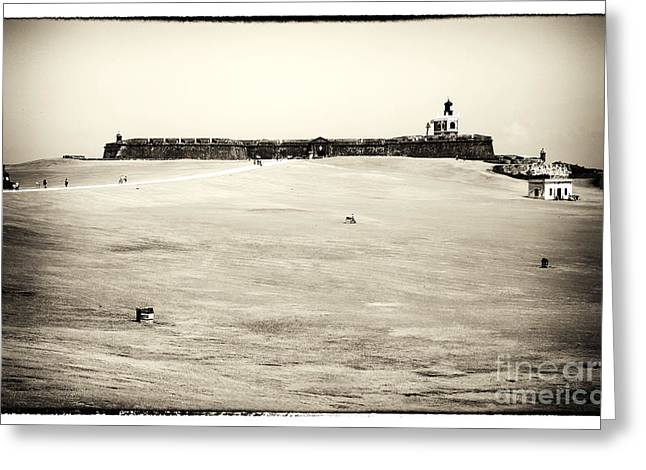 Castillo San Felipe Greeting Cards - Guardians of the Caribbean Greeting Card by John Rizzuto