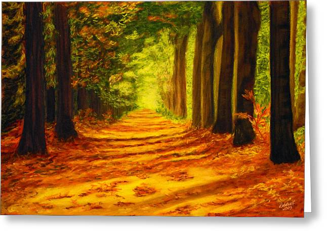 Pathway Pastels Greeting Cards - Guardians of the Forest Greeting Card by Rebelwolf