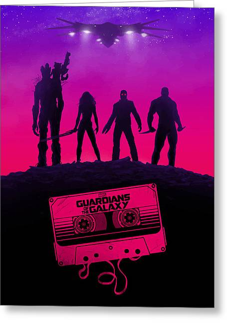 Raccoon Digital Art Greeting Cards - Guardians Of The Galaxy  Greeting Card by FHT Designs