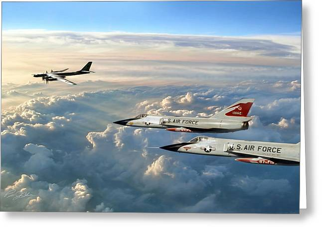 Squadron Greeting Cards - Guardians Of The North 87th F I S Greeting Card by Peter Chilelli