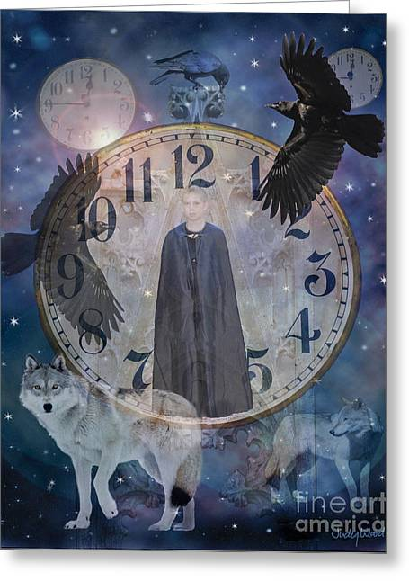 Judy Wood Digital Greeting Cards - Guardians of Time Greeting Card by Judy Wood