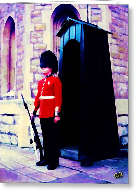 British Royalty Greeting Cards - Guarding Her Majesty Greeting Card by CHAZ Daugherty