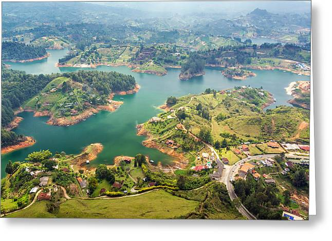 Guatape Lake Greeting Card by Jess Kraft