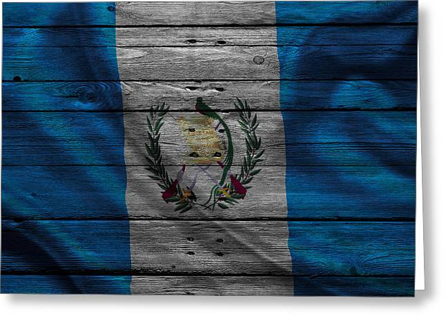Flag Pole Greeting Cards - Guatemala Greeting Card by Joe Hamilton