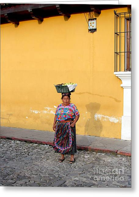 Guatemala Greeting Cards - Guatemala Lady Greeting Card by Carey Chen