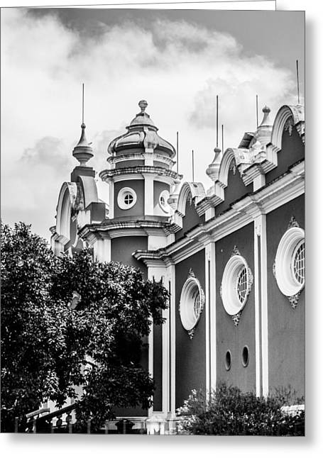 Poor People Greeting Cards - Guatemalan Architecture - Black and White Greeting Card by Shelby  Young