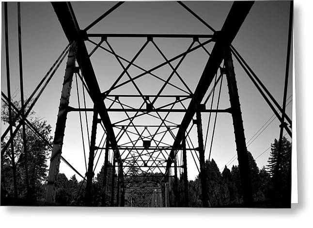 Guerneville Bridge Greeting Card by Art K