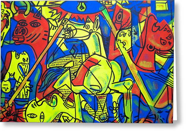 Pablo Greeting Cards - Guernica In Color Greeting Card by Leon Keay