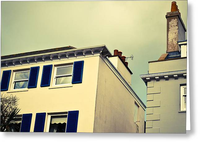 Guernsey Greeting Cards - Guernsey Houses Greeting Card by Tom Gowanlock