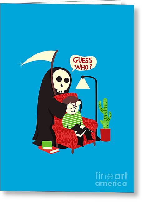 Humor Digital Art Greeting Cards - Guess Who Greeting Card by Budi Satria Kwan