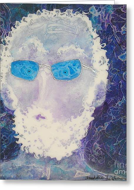 White Beard Mixed Media Greeting Cards - Guess Who Greeting Card by Freddie Lieberman