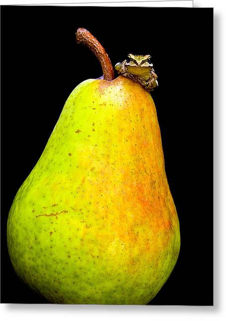 Guest A-pear-ance Greeting Card by Jean Noren