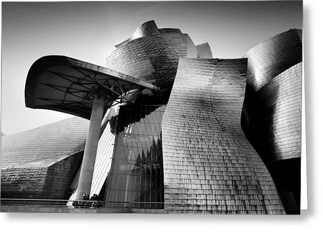 Guggenheim Greeting Cards - Guggenheim Bilbao Greeting Card by Nina Papiorek