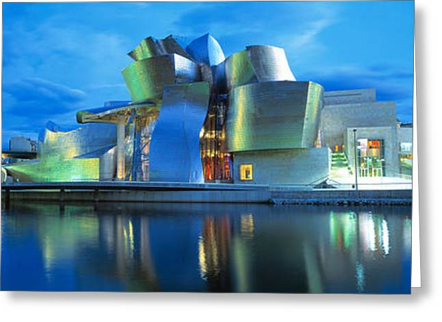 Guggenheim Greeting Cards - Guggenheim Museum, Bilbao, Spain Greeting Card by Panoramic Images