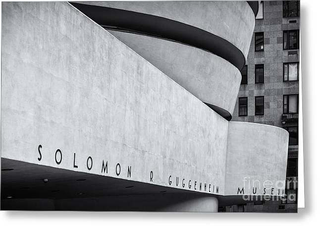 Guggenheim Museum Bw Selenium  Greeting Card by Jerry Fornarotto