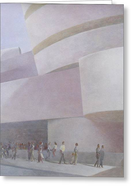 Guggenheim Museum New York 2004 Greeting Card by Lincoln Seligman