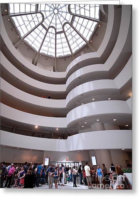 Guggenheim Greeting Cards - Guggenheim Museum New York Greeting Card by Amy Cicconi