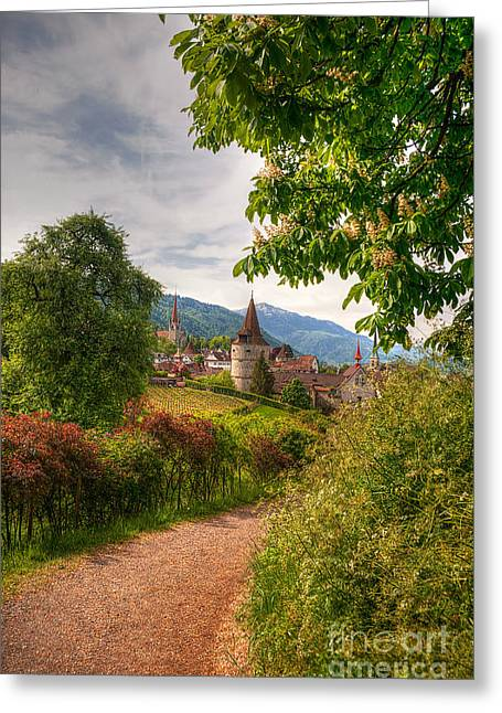 Caroline Pirskanen Greeting Cards - Guggi Zug Switzerland Greeting Card by Caroline Pirskanen