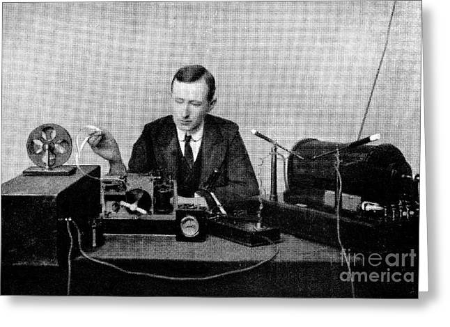 Experiment Greeting Cards - Guglielmo Marconi, Radio Inventor Greeting Card by Spl