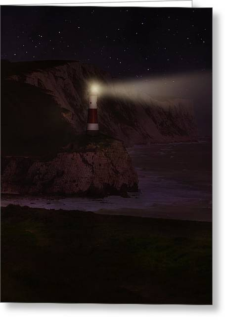 Sailing At Night Greeting Cards - Guide me home Greeting Card by Jaroslaw Blaminsky