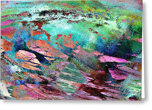 Print On Canvas Greeting Cards - Guided By Intuition - Abstract Art Greeting Card by Jaison Cianelli